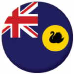 Western Australia State Flag 58mm Button Badge